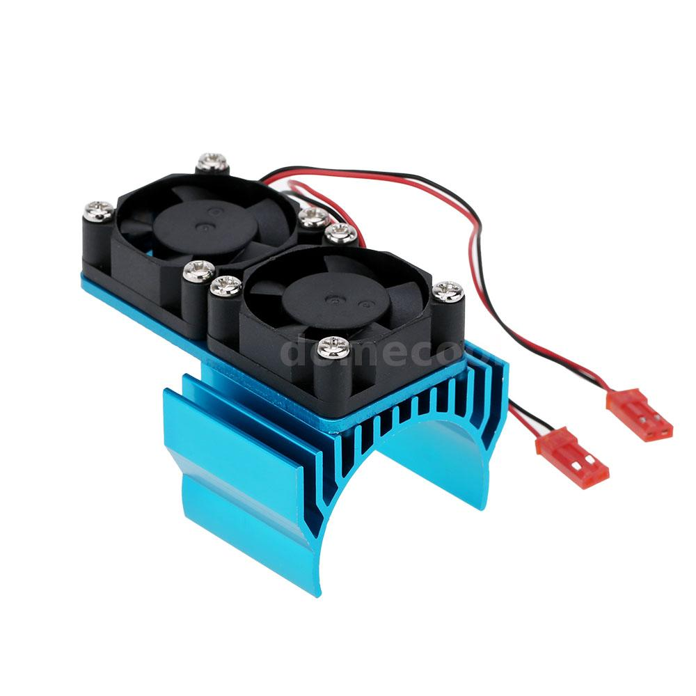 7019 Motor Heat Sink W Two Cooling Fans For 1 10 Hsp Rc