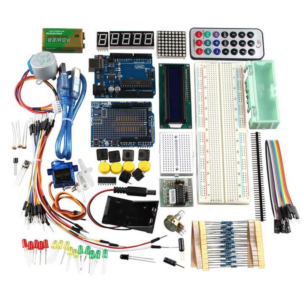 R uno learning kit fr arduino w stepper motor breadboard
