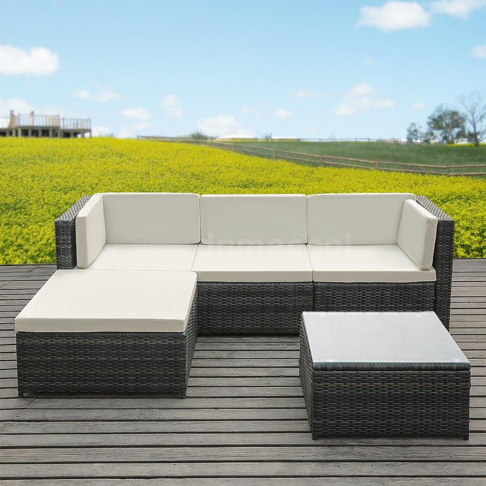 Astonishing Details About Outdoor 5Pc Furniture Sectional Pe Wicker Patio Rattan Sofa Set Couch Beige Z5V9 Ibusinesslaw Wood Chair Design Ideas Ibusinesslaworg