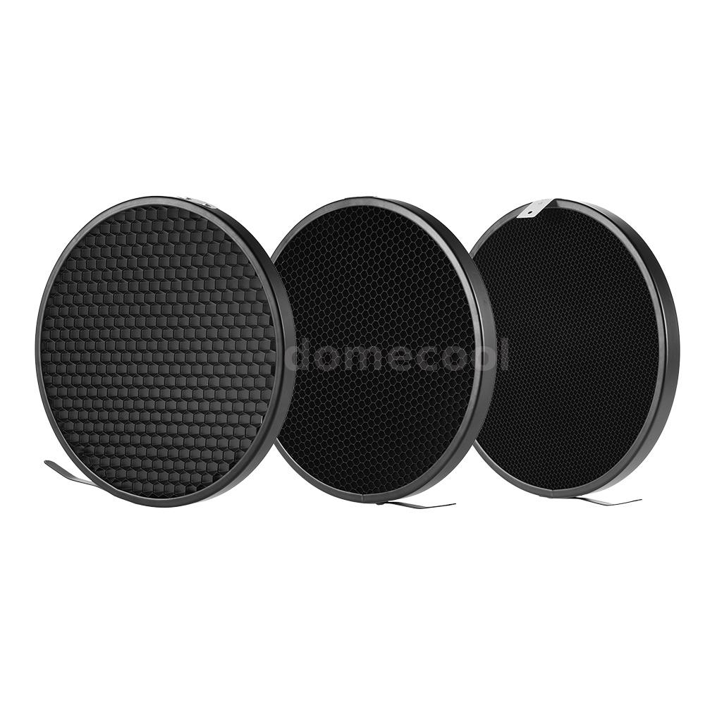 Haoge 7 Standard Reflector Diffuser Lamp Shade Dish For: Flash Speedlite Light Reflector Diffuser Honeycomb Grid