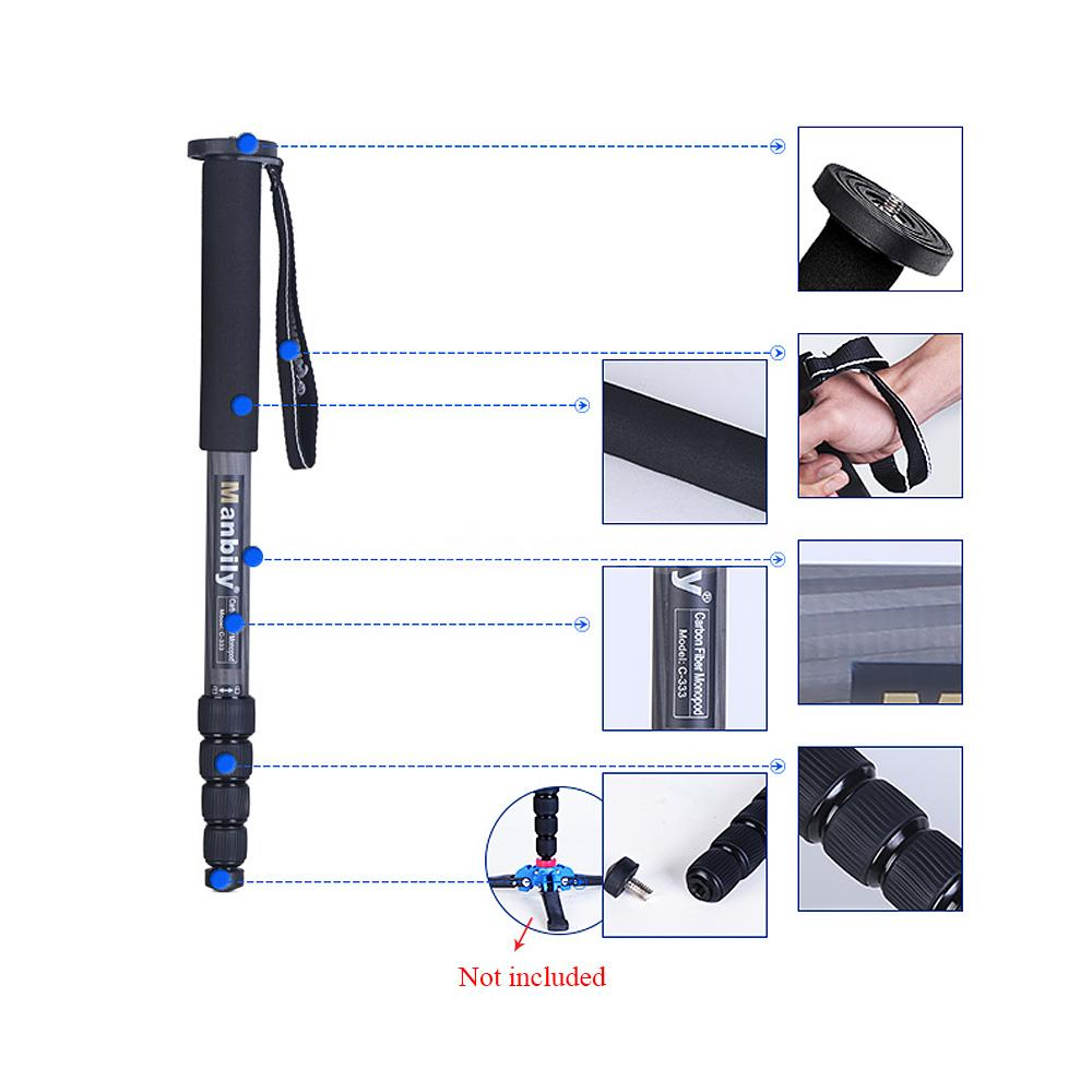 carbon fiber selfie stick photography monopod walking hiking dslr camera b3m3 ebay. Black Bedroom Furniture Sets. Home Design Ideas