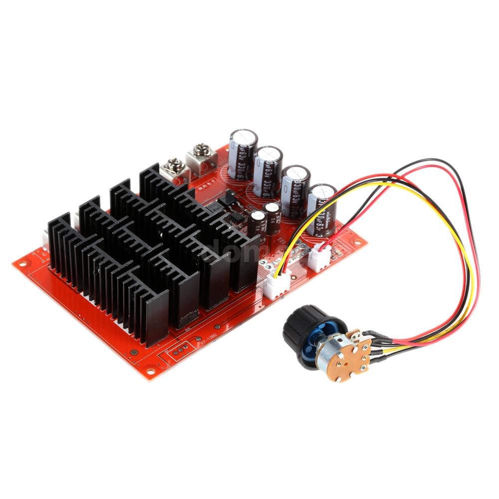 Dc motor speed control switch pwm hho rc controller 60a for Speed controller dc motor