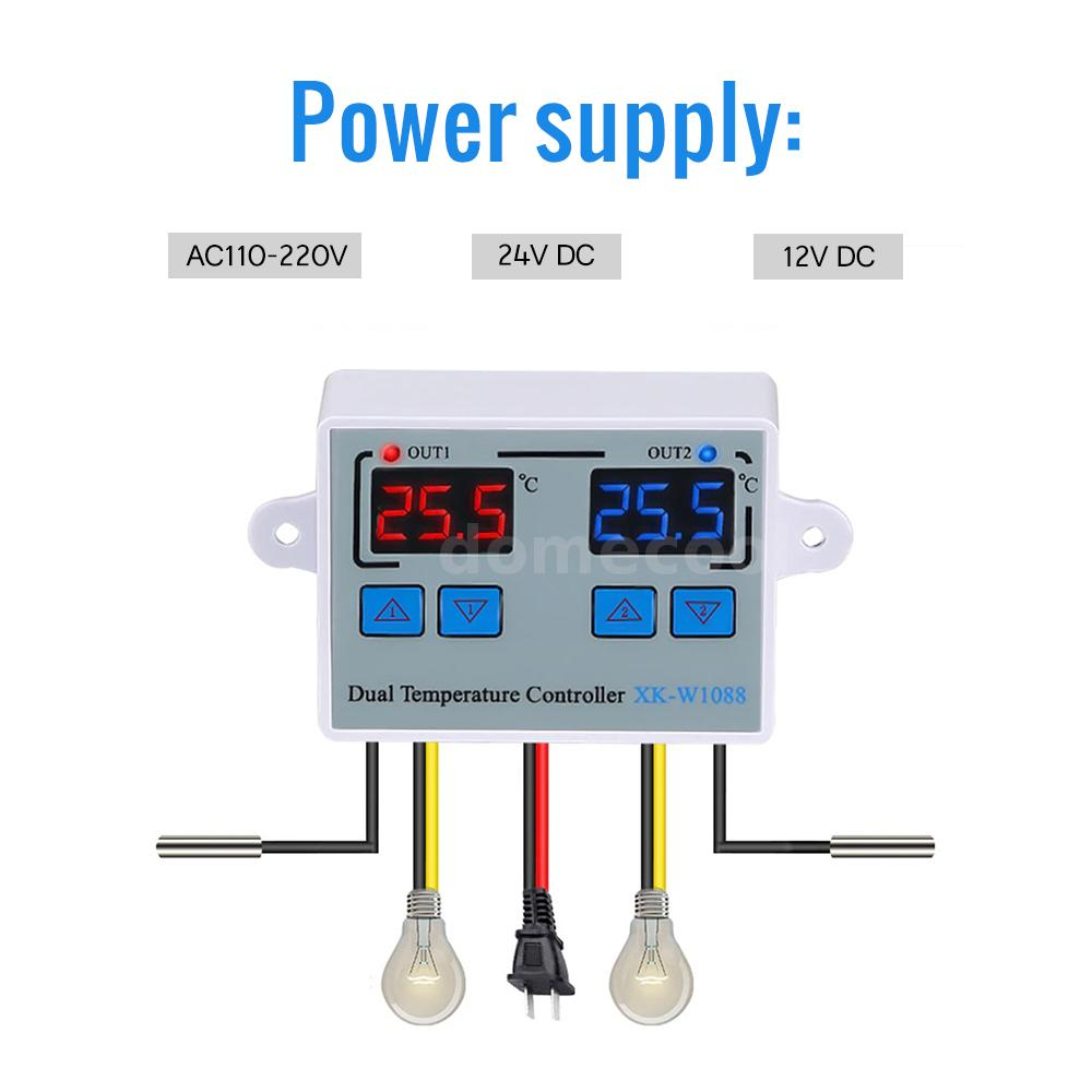 MYPIN FH8-6CRRB Dual LED Digital Counter Length Panel Meter 2 Relay Output S0A7