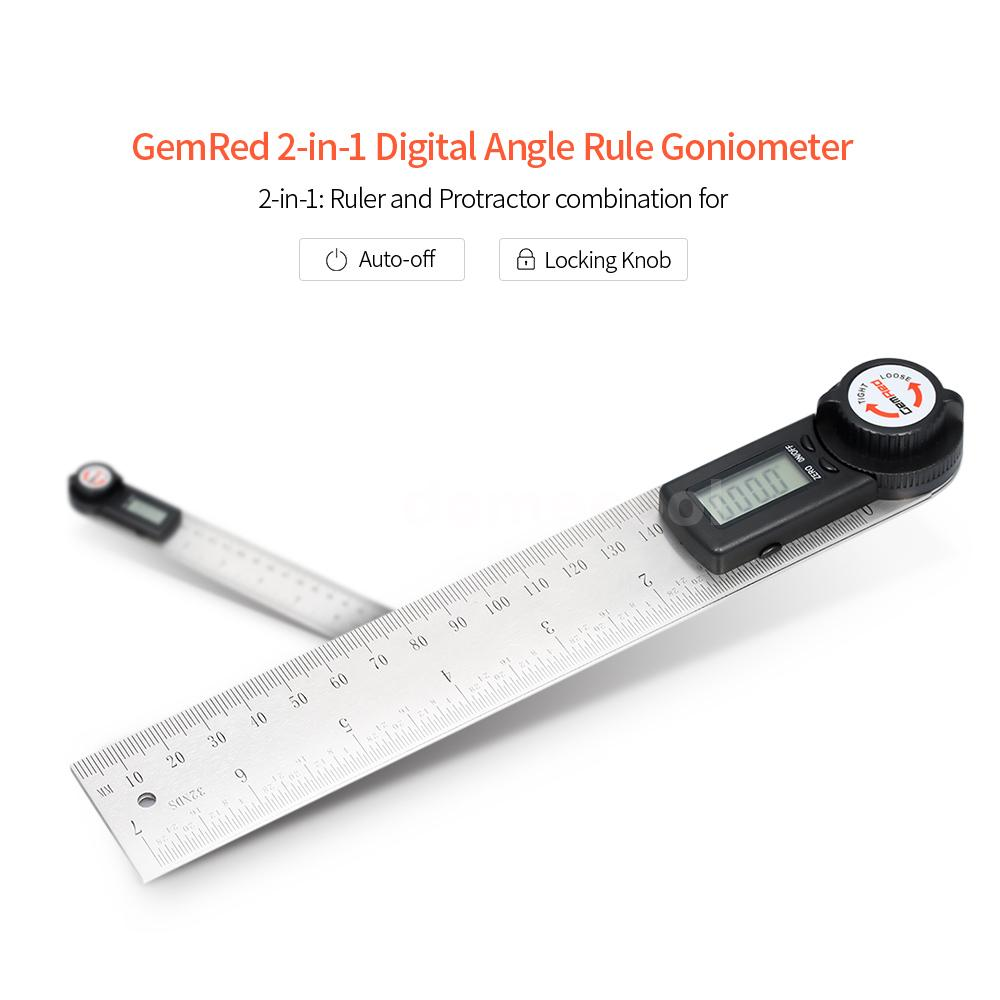 Digital Angle Rule Goniometer Angle Gauge Stainless Steel