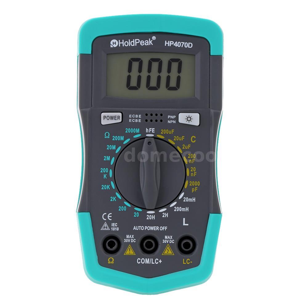 Lcr Meter Resistance : Hp d mini digital lcd multimeter lcr resistance