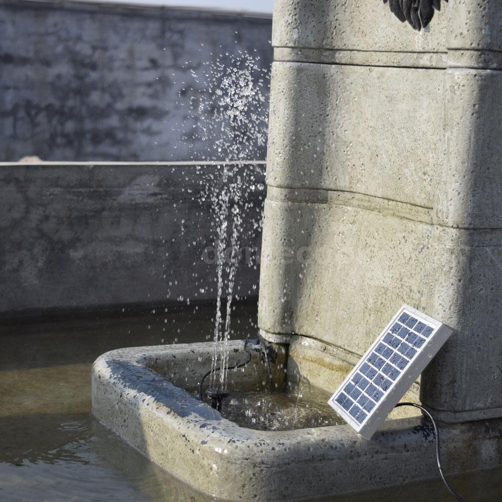 Small Landscape Pool Garden Fountains 9v 2w Solar Power Fountain Water Pump V4h6