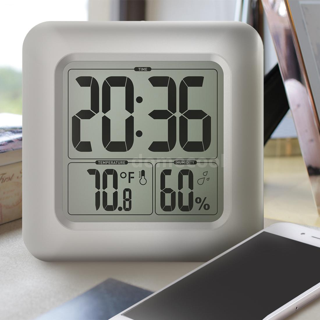 Digital lcd display waterproof bathroom wall shower clock with this square digital clock is essential for your bathroom this clock is water resistant so you have no worry about using in wet bathroom amipublicfo Choice Image