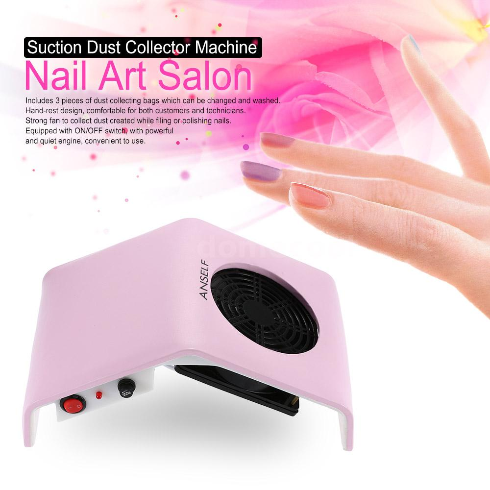 30W Nail Art Salon Suction Dust Collector Vacuum Cleaner Salon Tool ...