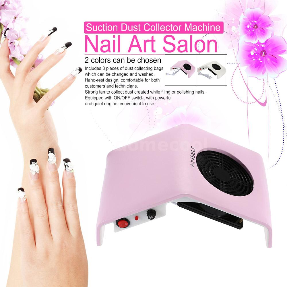 30W Nail Art Salon Suction Dust Collector Vacuum Cleaner Tool UK Plug W5L5