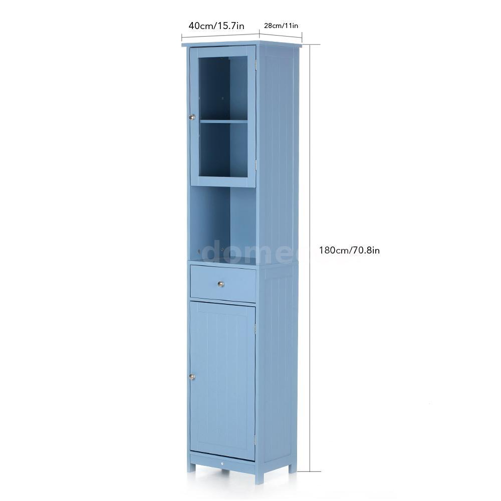 Corner Tower Bathroom Storage Cabinet Tall Bedroom Bookshelf ...