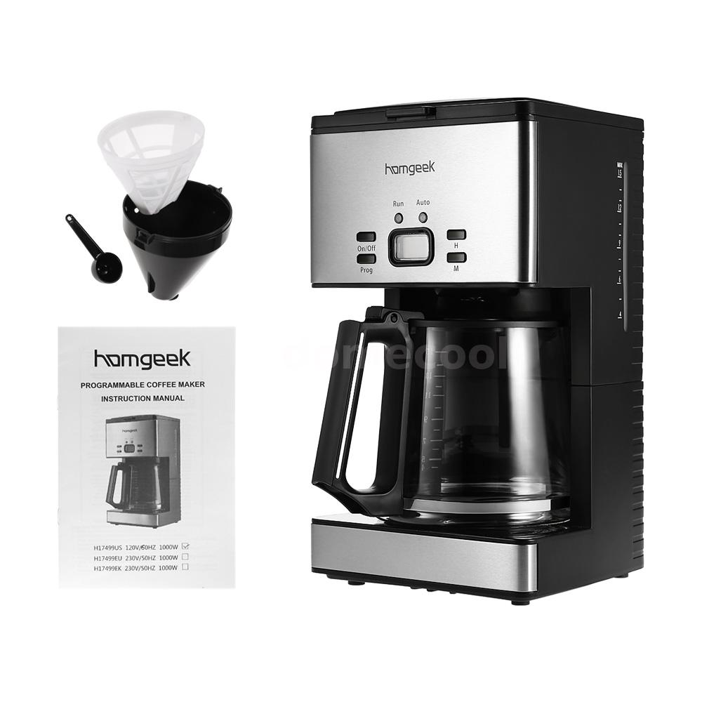 Drip Coffee Maker With Timer : 1.8L 15 Cups 1000W Programmable Automatic Drip Coffee Pot Maker Coffeemaker M8O0 eBay