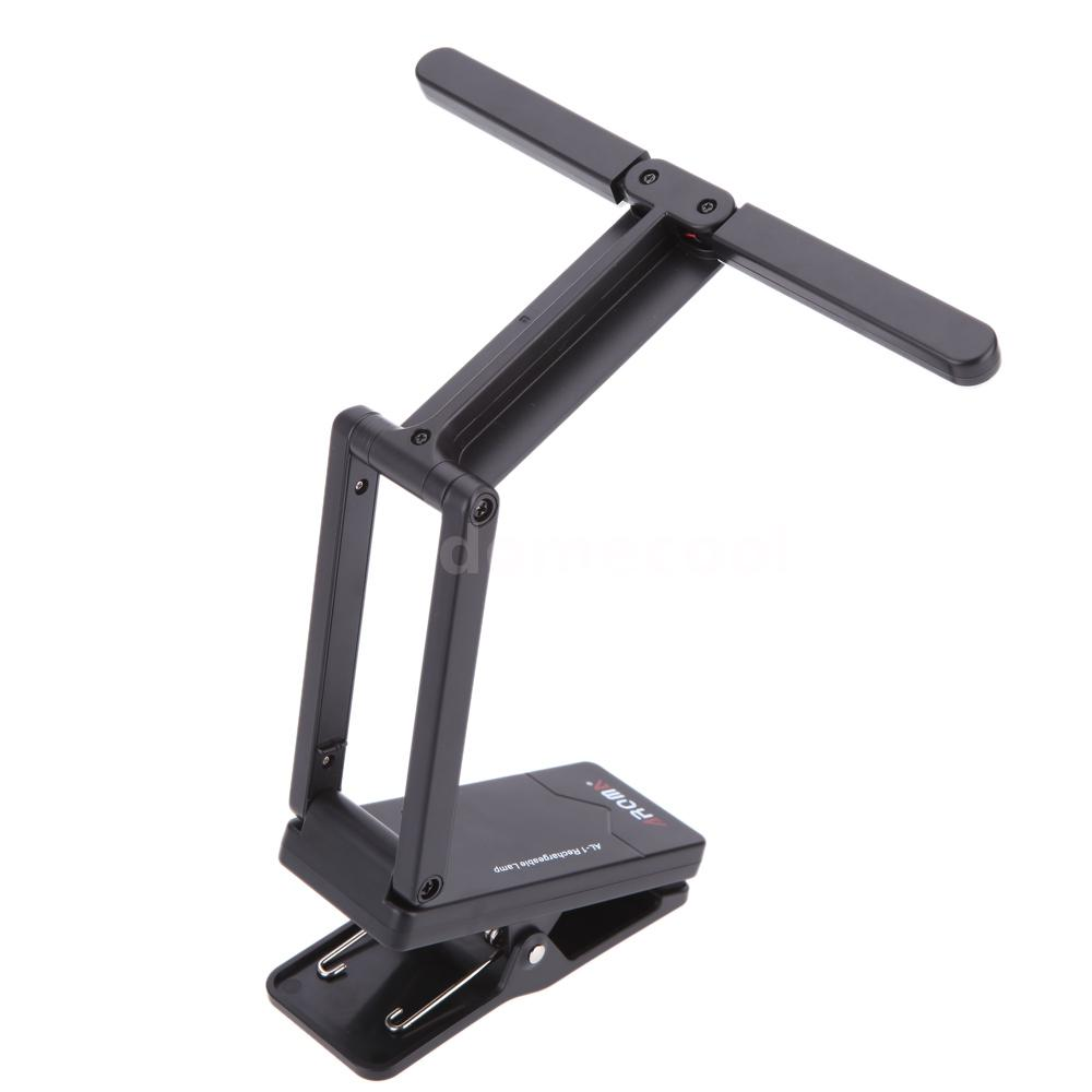 aroma al 1 clip on rechargeable music stand lamp for piano led stage light i1t6 ebay. Black Bedroom Furniture Sets. Home Design Ideas