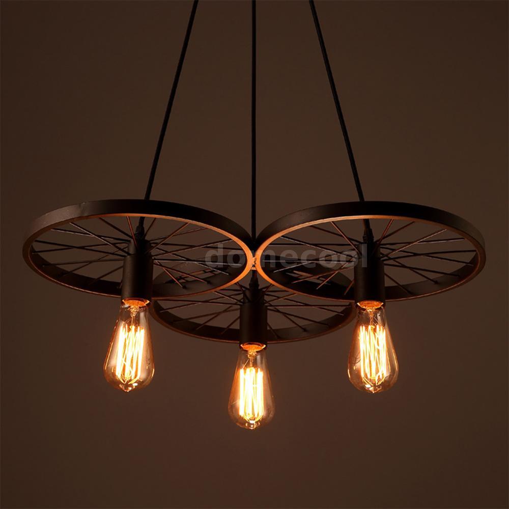 retro vintage e27 hanging pendant light ceiling fixture 3