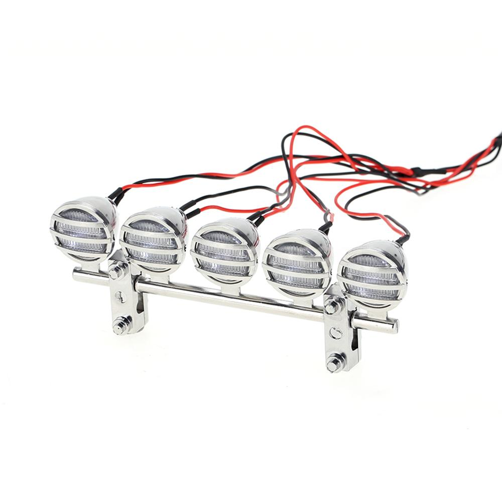 G.T.POWER LED roof light bar set 5 Spotlight silver for RC