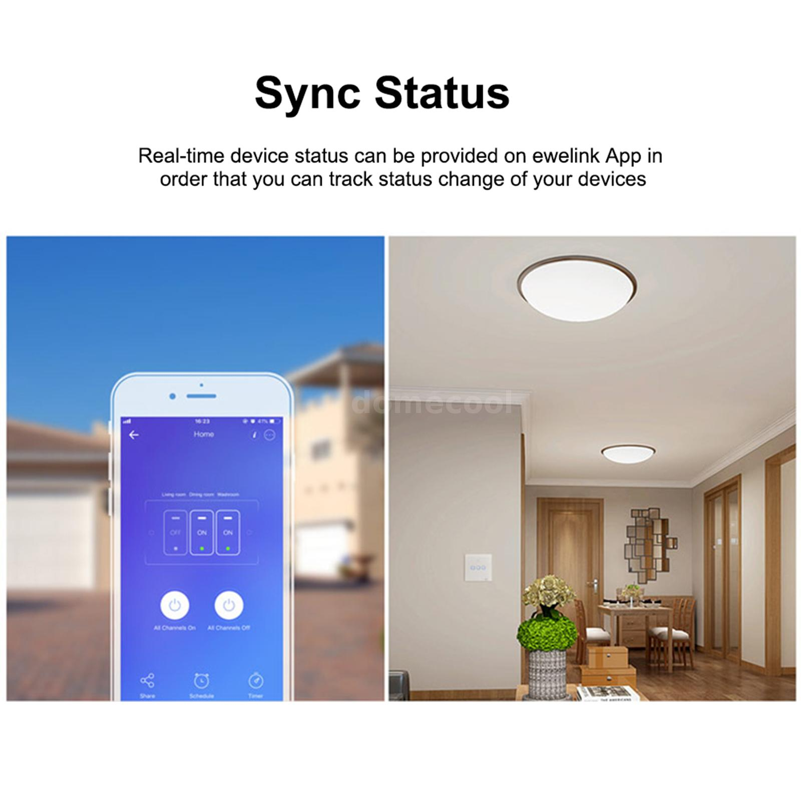 Sonoff T1 Wall Wifi Touch Smart Rf  Voice  App