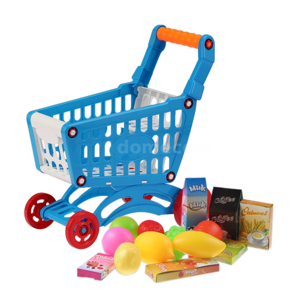 mini shopping cart holder toddler pretend play development toy for kids children 756910704315 ebay. Black Bedroom Furniture Sets. Home Design Ideas
