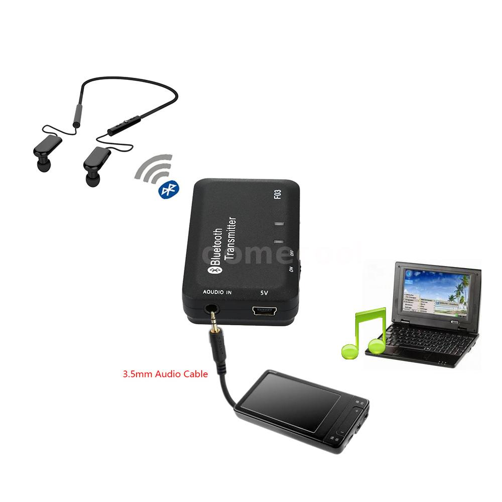 3.5mm Stereo Audio A2DP Bluetooth Music Transmitter Adapter For TV CD MP3/4 37UM | eBay