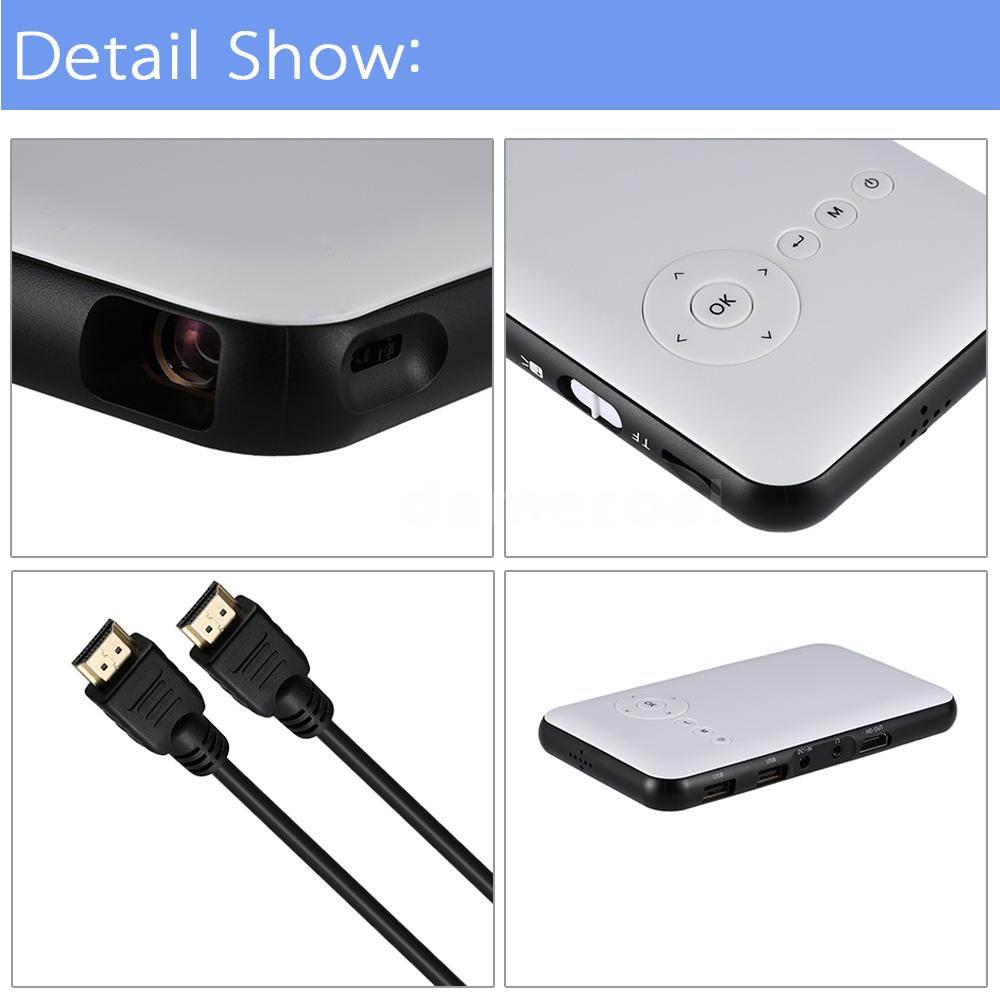 Mini led dlp wifi new bluetooth pocket projector home for Latest pocket projector