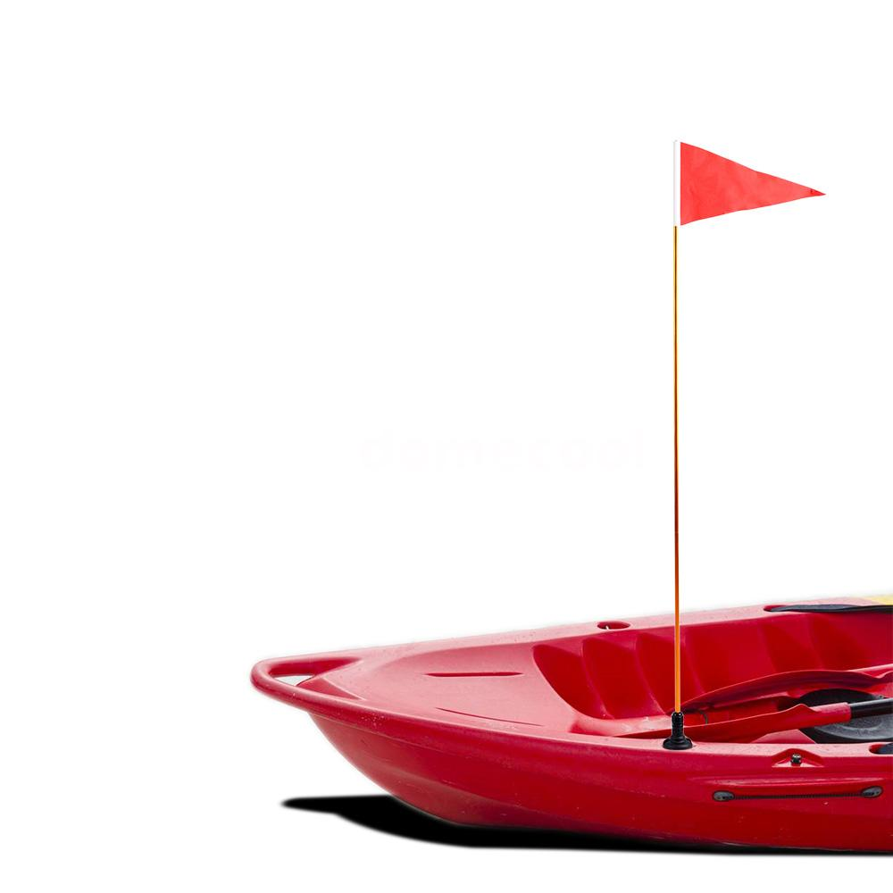 1.2m Universal Safety Flag with Pole Base Mounting Hardware for Kayak Marine