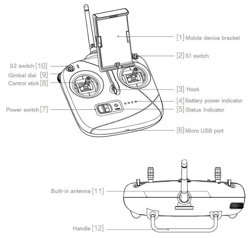 DJI Phantom 3 SE Drone 4K HD Camera GPS RC Intelligent
